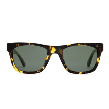 Otis Hawton Sunglasses - Dark Tort / Green Polarized