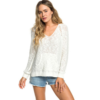 Roxy Airport Vibes Knitted Hoodie - Marshmallow