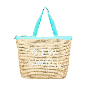 Roxy Heard That Sound Straw Tote Bag - Atlantis