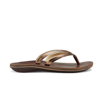 Olukai U'I Sandals - Bronze / Dark Java