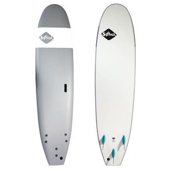 "Softtech Handshaped Softboard 8'0"" Surfboard - Grey"