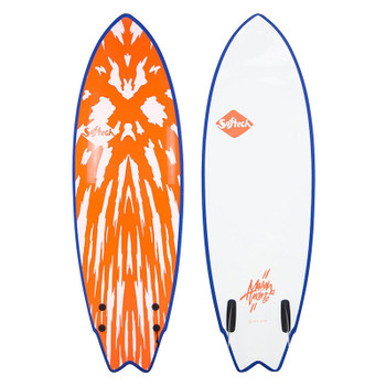 "Softtech Mason Twin 5'2"" Surfboard - Neon Red / White"
