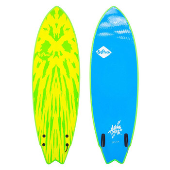 "Softtech Mason Twin 5'2"" Surfboard - Lime / Yellow"