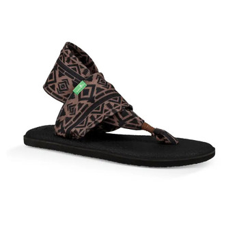 Sanuk Yoga Sling 2 Prints Sandals - Skyland Brown / Black