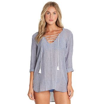 Billabong Same Story Cover Up - Blue Stripe