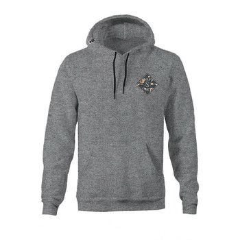 Salty Crew Island Time Hooded Fleece - Gunmetal Heather