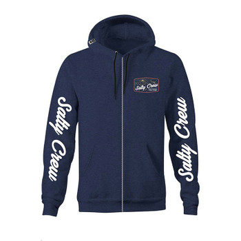 Salty Crew Frenzy Zip Fleece - Navy / Heather