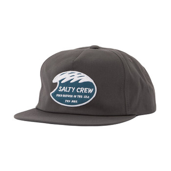 Salty Crew White Wash 5 Panel Hat - Charcoal
