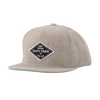 Salty Crew Four Corners 5 Panel Hat - Oatmeal