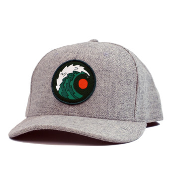 Moment Moon & Wave Hat - Grey Chambray
