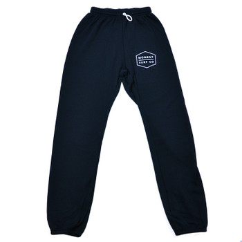 Moment Boxed Logo Sweatpant - Black / White