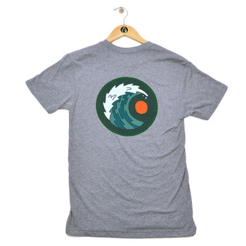 Moment Moon & Wave Tee - Heather Grey - Back