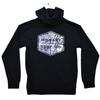 Moment Boxed Topo Logo Zip Hoodie - Black - Back