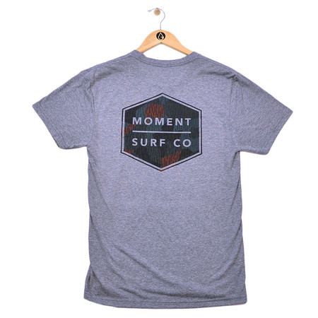Moment Discovery Division Tee - Heather Grey - Back