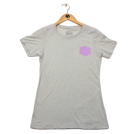 Moment Women's Boxed Logo Tee - Sand / Lilac