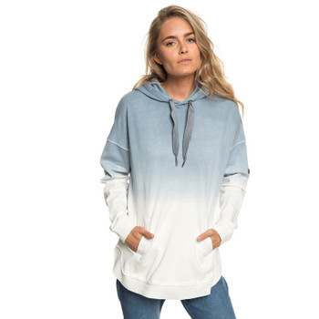 Roxy Time Has Come Poncho Hoodie - Blue Mirage Heather