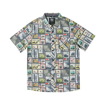 Hippytree Collage Woven Shirt - Natural