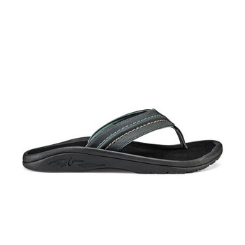 Olukai Hokua Sandals - Dark Shadow / Black