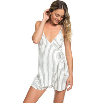 Roxy Intense Sunrise Stripe Strappy Romper - Anthracite Verti Pool Stripes
