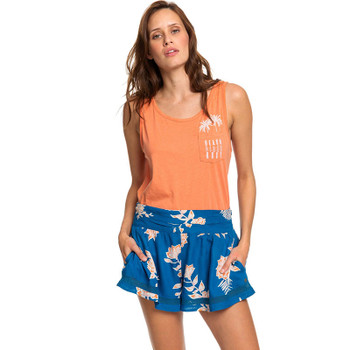 Roxy Boho Dreams Viscose Shorts - Mykonos Blue Eglantine