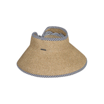 Roxy Kiss The Ocean Capeline Straw Visor - Natural