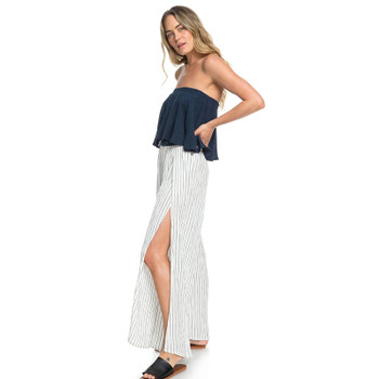 f623bc3bd0 Roxy Adventure Wide Leg Pant - Anthracite Verti Pool Stripes