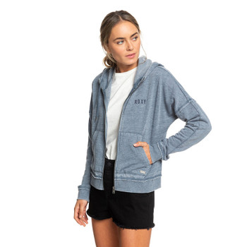 Roxy Take On The World B Zip Hoodie - Blue Mirage