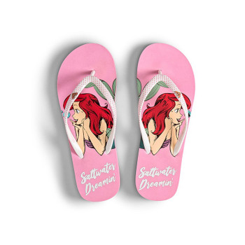 Roxy Girls Ariel Pebbles Flip Flops - Pink / Raspberry