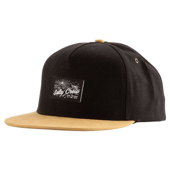 Salty Crew Frenzy Two Tone 5-Panel Hat - Black / Khaki