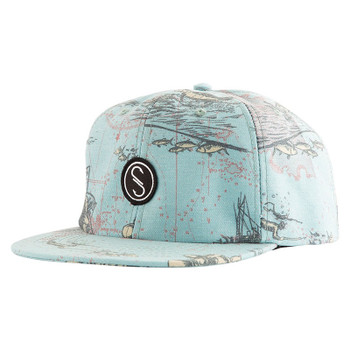 Salty Crew Frenzy Two Tone Loden Navy 5 Panel Hat