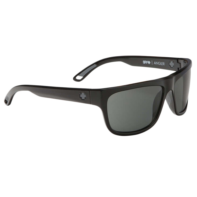 ab8416bc47 ... Spy Angler Sunglasses - Black   Happy Grey Green Polarized. Image 1