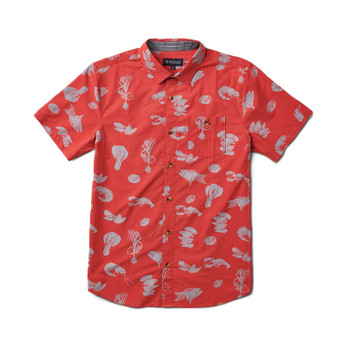 Roark Seafood Stew Button Up Shirt - Red