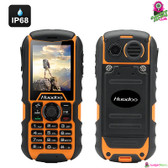 """Atomic Rhino"" Huadoo Rugged Bar Phone (Tangerine) - 2"" Display Bluetooth"