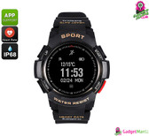 No.1 F6 Bluetooth Smartwatch  (Black)