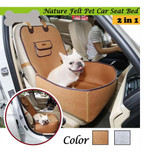 Brown Pet Car Seat Cover Puppy Basket