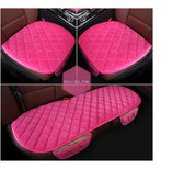Pink 3 Pcs Soft Comfortable Car Cushion