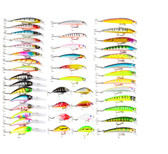 43 Pcs Colorful Fishing Lure with Fishhook