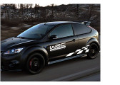 White Grid Totem Decals Car Stickers