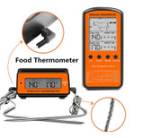 Black Wireless Remote Food Thermometer -50~30