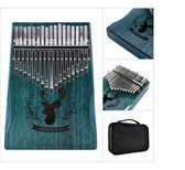 17 Keys Thumb Piano Finger Reindeer Blue