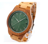Bobobird bamboo 2035 quartz sports watch