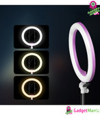 Photography LED Selfie Ring Light - Pink