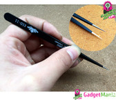 Curved Tips Flat Tweezers ESD-11, Tip Mouth
