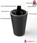 Ashtray Design Multifunctional Charger -Black