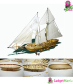 1:100 Scale Wooden Wood Sailboat Ship Kits