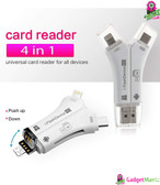 4 in 1 iPhone/Micro usb/USB - White