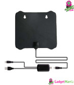Thin Flat Digital  HD TV Antenna - Black,200m
