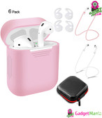 6 Pcs/Set Protective Cover for AirPods pink