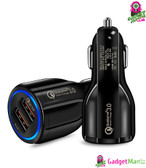 Quick Charge 3.0 Car Charger Black