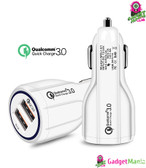 Quick Charge 3.0 Car Charger White